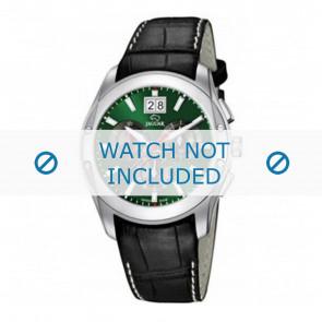 Jaguar watch strap J615-3 / J615-A / J615-B / J615-D / J615-E / J615-G / J615-H / J615-I / J615-J / J615-K Croco leather Black 22mm + white stitching