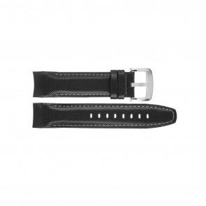 Jaguar watch strap J650-LED / J650/1 / J650/X / J651/1 / J652/1 / J653 Leather Black 22mm + white stitching