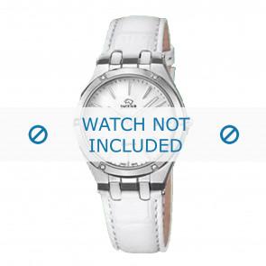 Jaguar watch strap J674-1 / J674-7 Leather White + white stitching
