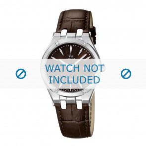 Jaguar watch strap J674-2 Leather Brown + brown stitching