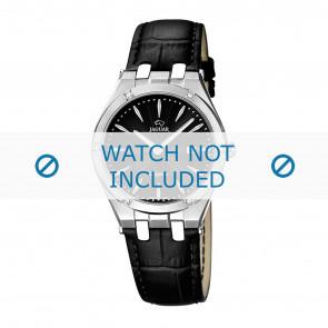 Jaguar watch strap J674-3 / J674-5 Leather Black + black stitching
