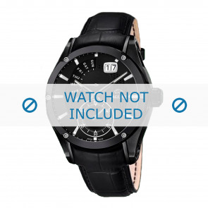 Jaguar watch strap J681-A / J681-B Leather Black + black stitching