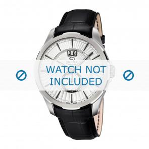 Jaguar watch strap J682-1 / J682-2 / J682-3 / J682-4 Leather Black 22mm + black stitching