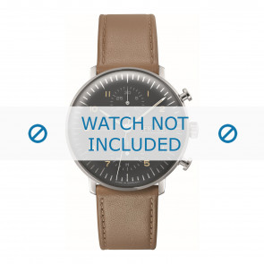 Junghans watch strap 027/4501.01 Leather Brown 20mm + standard stitching