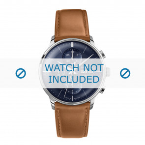 Junghans watch strap 027/4526.00 Leather Cognac 21mm + standard stitching