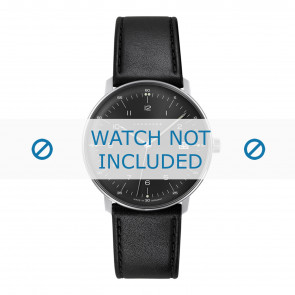 Junghans watch strap 041/4462.00 Leather Black 20mm + standard stitching