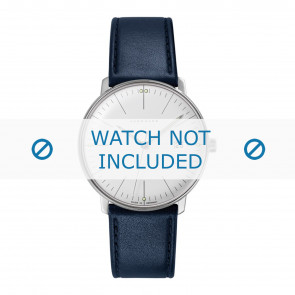 Junghans watch strap 041/4464.00 Leather Blue 20mm + standard stitching