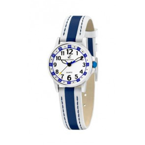 Watch strap Calypso k5212-1 Leather Blue