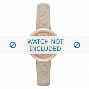 Karl Lagerfeld watch strap KL1612 Leather Beige