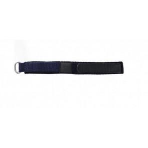 Velcro watch strap dark blue 14mm