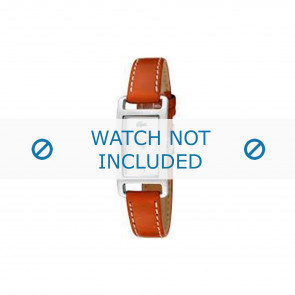 Lacoste watch strap 2000310 / LC-05-3-14-0006 Leather Orange 12mm + white stitching