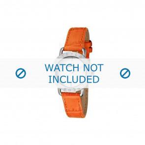Lacoste watch strap 2000513 / LC-05-3-14-0167 Leather Orange 13mm + orange stitching