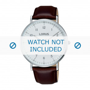 Lorus watch strap VJ21 X071 / RH895BX9 Leather Brown 20mm + brown stitching