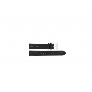 Lorus watch strap RR033X Leather Black 18mm