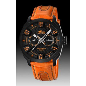 Watch strap Lotus 15788-2 Leather Orange