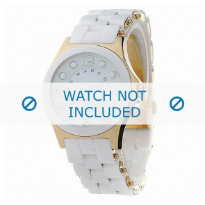 Marc by Marc Jacobs watch strap MBM2526 Rubber White 18mm