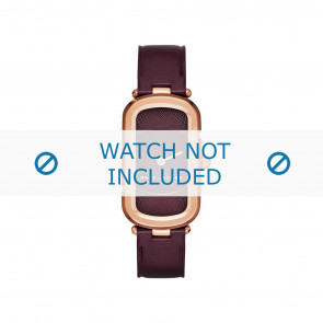Marc by Marc Jacobs watch strap MJ1483 Leather Bordeaux 14mm + standard stitching