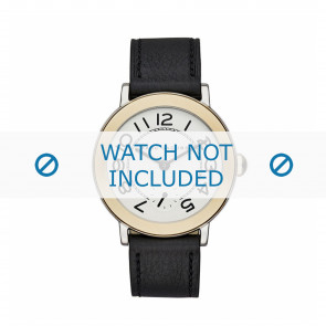 Marc by Marc Jacobs watch strap MJ1514 Leather Black 18mm + black stitching