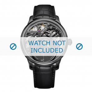Maurice Lacroix watch strap MP6558-PVB01-092 Crocodile skin Black + black stitching