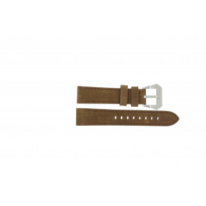 Max watch strap BR / 20mm  Leather Brown 20mm + brown stitching