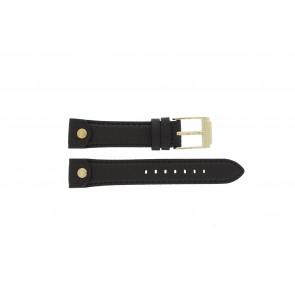 Michael Kors watch strap MK-2166 Leather Brown 18mm