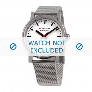 Mondaine watch strap BM20126 / BM20038 / 30300 / 30314 / Classic 36 / Evo 35  Metal Silver 18mm
