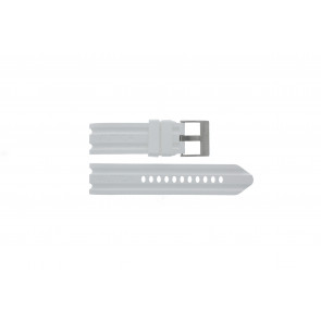 Nautica watch strap A15567G Rubber White 24mm