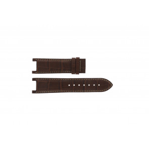 Guess watch strap GC41501G / 145003G1 Leather Brown 21mm + white stitching