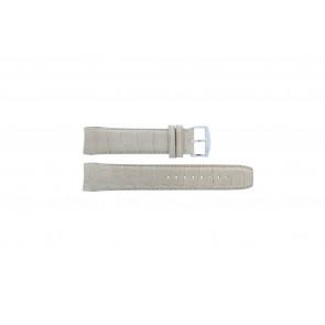 Zodiac watch strap ZO2702 Croco leather Beige 18mm + standard stitching