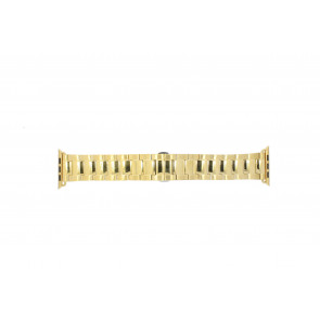 Apple (replacement model) watch strap LS.AB.106 Steel Gold (Doublé) 42mm
