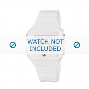 Adidas watch strap ADH4056 Rubber White 20mm