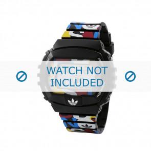Adidas watch strap ADH6080 Plastic Black 26mm