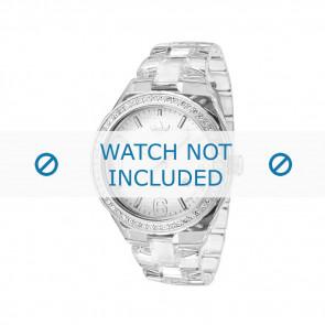 Adidas watch strap ADH2506 Plastic White 22mm
