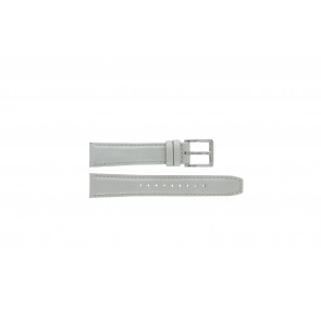 DKNY watch strap NY8585 Leather White + white stitching