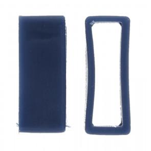 Watch strap keeper rubber blue 24mm