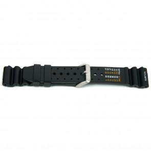 Watch strap 8136 / Citizen Rubber / plastic Black 20mm