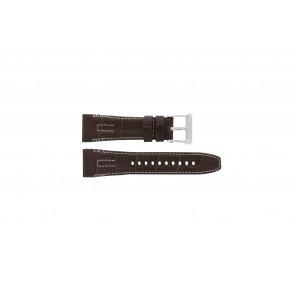 Seiko watch strap 5D44-0AE0 / SRH011P1 Leather Brown 26mm + white stitching