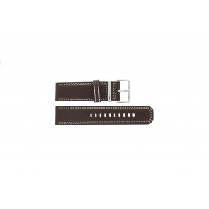 Seiko watch strap 7T62-0HM0 Leather Brown 24mm