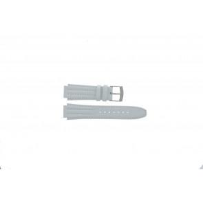 Seiko watch strap 7T92-0HD0 Leather White 16mm