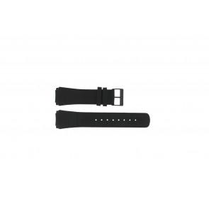 Skagen watch strap 856XLBLB / 856XLBLN Croco leather Black 24mm