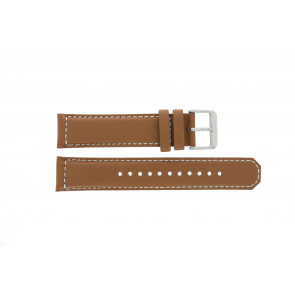 Seiko watch strap SRPA75K1 / 4R35 01N0 / M0FP71BN0 Leather Cognac 21mm + white stitching