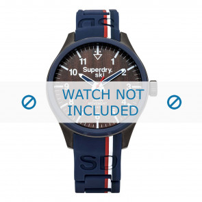 Superdry watch strap SYG185U Silicone Blue