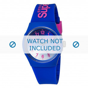 Superdry watch strap SYG198UU Plastic Blue