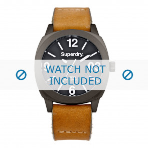 Superdry watch strap SYL116TT Leather Cognac + standard stitching