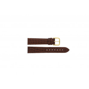 Tissot watch strap 970-122 T870 - T600013060 Croco leather Brown 18mm