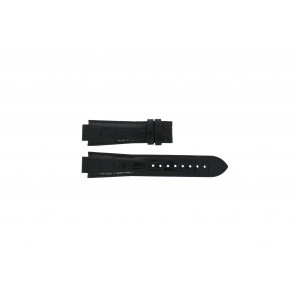 Tissot watch strap T601.521.13 - T610014537 / T60.1.521.52 Croco leather Black 18mm