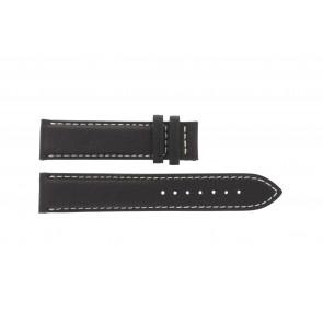 Tissot watch strap T014.410.16.037.00 - T610025416 Leather Dark brown 19mm + white stitching