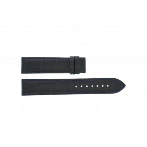 Tissot watch strap T055.417.16.047.00 - T610032786 / T055.410.16.047.00 Croco leather Blue 19mm + black stitching