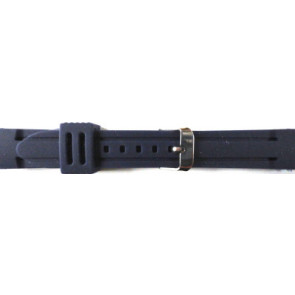 Watch strap Rubber 26mm Blue PVK DS253