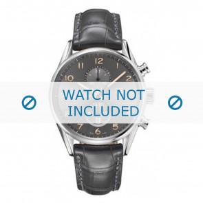 Tag Heuer watch strap CAR2013-FC6313 Leather Grey + grey stitching